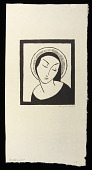 view Madonna digital asset: Woodcut by Benjamin Miller, 'Madonna,' 1925