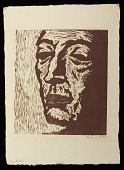view Malachi digital asset: Woodcut by Benjamin Miller, 'Malachi,' 1925