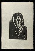 view Refugee digital asset: Woodcut by Benjamin Miller, 'Refugee,' 1925