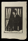 view Woman at the Window digital asset: Woodcut by Benjamin Miller, 'Woman at the Window,' 1925