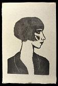 view Blanche digital asset: Woodcut by Benjamin Miller, 'Blanche,' 1926