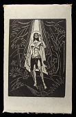 view I Am a Voice Crying in the Wilderness digital asset: Woodcut by Benjamin Miller, 'I Am a Voice Crying in the Wilderness,' 1926