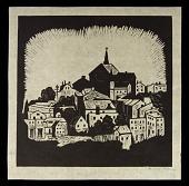 view Mt. Adams digital asset: Woodcut by Benjamin Miller, 'Mt. Adams,' 1927