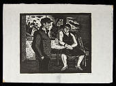 view Sailor's Hangout digital asset: Woodcut by Benjamin Miller, 'Sailor's Hangout,' 1927