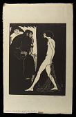 view Salome Asks for Head of John the Baptist digital asset: Woodcut by Benjamin Miller, 'Salome Asks for Head of John the Baptist,' 1927