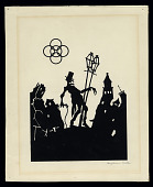view The Drunkard digital asset: Drawing by Benjamin Miller, 'The Drunkard,' ca 1920