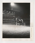 view Horse racing digital asset: Photograph by Ken Regan, Number 3 Cardigan Bay winning fourth race at Yonkers Raceway, 1966