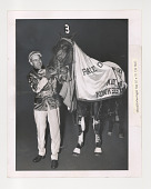 view Horse racing digital asset: Photograph by Ken Regan, Number 3 Cardigan Bay at Yonkers Raceway