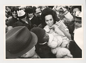 view Super Bowl IX digital asset: Photograph by Ken Regan, crowd at Super Bowl IX