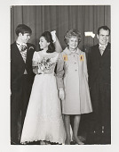 view Nixon-Eisenhower wedding digital asset: Photograph by Ken Regan, Nixon family