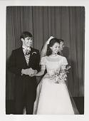 view David Eisenhower and Julie Nixon digital asset: Photograph by Ken Regan, Julie Nixon and David Eisenhower at wedding
