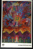 view Poster for the 1984 Summer Olympic Games held in Los Angeles, California digital asset: 1984 Summer Olympic Games Poster, design by Carlos Almaraz