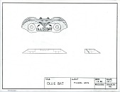 view Mechanical drawing for the Ollie Bat digital asset: Ollie Bat drawing