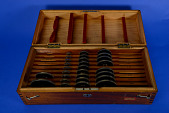 view Wheels for Coradi Harmonic Analyzer No. 61 in Case digital asset: Wheels for Coradi Harmonic Analyzer No. 61 in Case