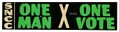 view Bumper Sticker, One Man One Vote digital asset number 1