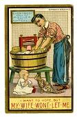 view Anti-Woman Suffrage Postcard digital asset number 1