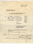 """view letter, to Hood River Saddle Club from J.H. Sheldrake - payouts to """"Special Deputies"""" spying on Japanese neighbors, Hood River in Oregon, 07/15/1946 digital asset number 1"""