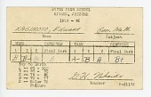 view document, Edward Kagimoto's Report Card from Butte High School, 1944-1945, Butte, c. 1946 digital asset number 1