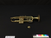 view F. E. Olds and Son B-Flat Trumpet, used by Andrew Blakeney digital asset number 1
