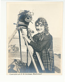 view Mary Pickford with Camera digital asset: Photograph by F.B. Lichtman, Mary Pickford with a camera, 1916