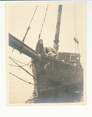 view Mary Pickford on a sailboat digital asset: Photograph by F.B. Lichtman, Mary Pickford on a sailboat, ca 1916