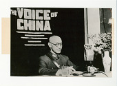view The Voice of China digital asset: Chinese Generalissimo Chiang Kai-Shek at microphone, 1945