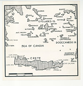 view Map of Crete and Greek Islands digital asset: Map of Crete and Greek Islands