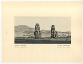 view Thebes-West, The Colossi of Memnon digital asset: Rotogravure, recto, Egypt: Thebes-West, The Colossi of Memnon, 1927