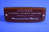 view UNIVAC Computer Nameplate digital asset: Mainframe Computer Component, Nameplate for UNIVAC Computer