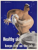 view Healthy skin keeps him on the job digital asset: public health poster