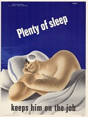 view Plenty of sleep keeps him on the job digital asset: public health poster