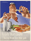 view Foods that count keep him on the job digital asset: public health poster