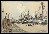 view Harlequin Freighters digital asset: Sketch by J. Andre Smith, 1918, Harlequin Freighters