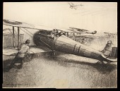 view The Alert Nieuports digital asset: Sketch by Harry Townsend, 1918, The Alert Nieuports