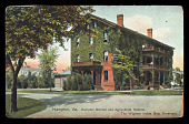 view Hampton, VA. Hampton Normal and Agricultural Institute. The Wigwam Indian Boys Dormitory. digital asset number 1