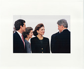 view Kennedy family with President Clinton digital asset: Photograph by Diana Walker
