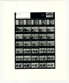 view Enlarged contact sheet of President Bill Clinton and Hillary Clinton on the Chobe River digital asset: Photograph by Diana Walker
