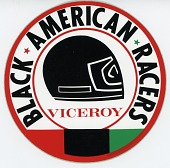 view Black American Racers team decal from the 1974-1975 racing season digital asset number 1