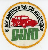 view Black American Racers Association patch issued for BARA in 1974 digital asset number 1