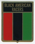 view Black American Racers team decal for the 1974-1975 racing season digital asset number 1