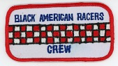 view Black American Racers crew team patch for the 1977-1978 racing season digital asset number 1