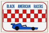 view Black American Racers team decal for the 1977-1978 racing season digital asset number 1