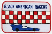 view Black American Racers team patch for the 1977-1978 racing season digital asset number 1