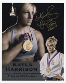 view Autographed photograph of Kayla Harrison when she won a gold medal in judo during the 2012 London Olympic Games digital asset: photograph of Kayla Harrison