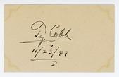 view Ty Cobb Autograph digital asset: Ty Cobb autograph