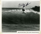 "view Black and white photograph from Bruce Brown's surf film ""Barefoot Adventure,"" 1961 digital asset number 1"