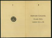 view Harvard College Class Day Program digital asset number 1