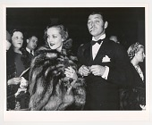 view Carole Lombard and Clark Gable at a movie preview, Hollywood digital asset: Photograph by Carl Mydans of Carole Lombard and Clark Gable at a movie preview, Hollywood, 1936