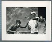 view Three African American men digital asset: Photograph by Roy Zalesky