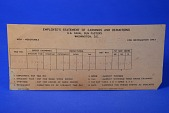 view IBM 749809 Punch Card, Employee's Statement of Earnings and Deductions, U.S. Naval Gun Factory digital asset: IBM 749809 Punch Card